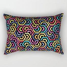 Seamless Colorful Geometric Pattern XXIV Rectangular Pillow