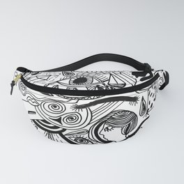 hand drawn doodle illustration Fanny Pack