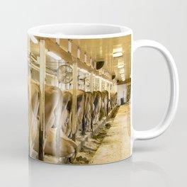 Cows in Milking Barn Coffee Mug