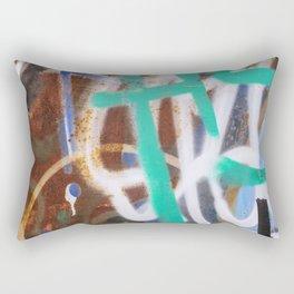 Graffiti and rust Rectangular Pillow