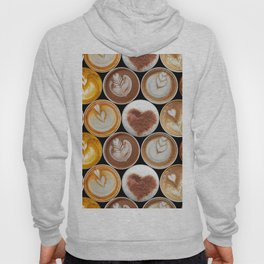 Latte Polka Dots in Black Hoody
