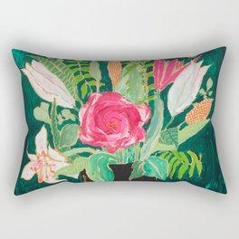 Tiger Vase Rectangular Pillow