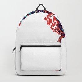 Hannya Head Illustration Backpack