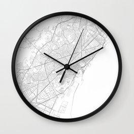Barcelona, Spain Minimalist Map Wall Clock