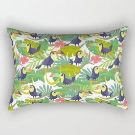 Toucan Paradise Pattern Rectangular Pillow