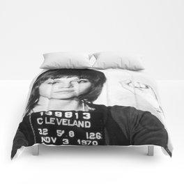 Jane Fonda Mugshot Vertical Comforters
