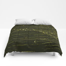 Stone yellow black Comforters
