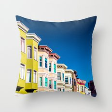 Colorful San Francisco 3 Throw Pillow