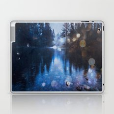 Forest Reflection Nature Lake - Magical Blue Forest Water Reflection Laptop & iPad Skin