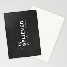 SHE BELIEVED SHE COULD SO SHE DID - CHALKBOARD Stationery Cards