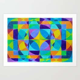 The 'Cross of Light' Effect Art Print