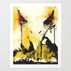 Eagle Eye Watching Art Print