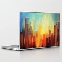 friend Laptop & iPad Skins featuring Urban sunset by SensualPatterns