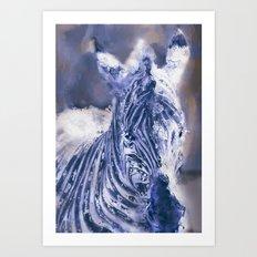 Zebra Oil Art Print