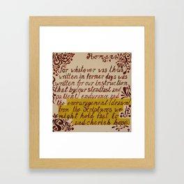Romans 15:4 Framed Art Print