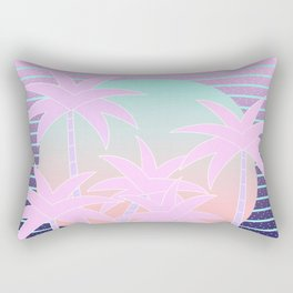 Hello Miami Moonlight Rectangular Pillow
