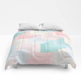 Pastel Chevron Pattern Comforters