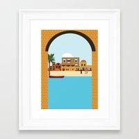 arab Framed Art Prints featuring Arab city by Design4u Studio