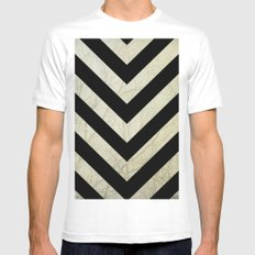 Bold White Mens Fitted Tee MEDIUM