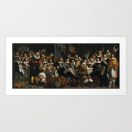Banquet of the Amsterdam Civic Guard Art Print