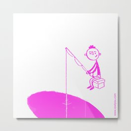 fishing your heart Boy Metal Print