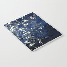 Vincent Van Gogh Almond Blossoms Dark Blue Notebook