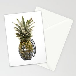 Pineapple Grenade Stationery Cards