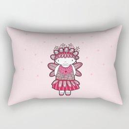 Pink Angel Rectangular Pillow