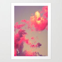 Fluffy Clouds Art Print