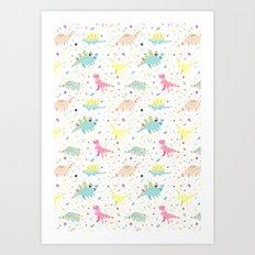 Dinosaur Pattern Art Print