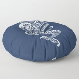 The White Whale  Floor Pillow