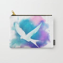 Bird Galaxy Watercolor Carry-All Pouch
