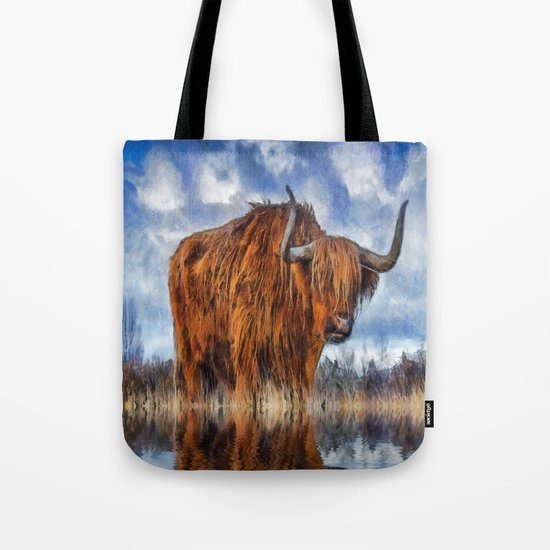 Meadow Bull Tote Bag