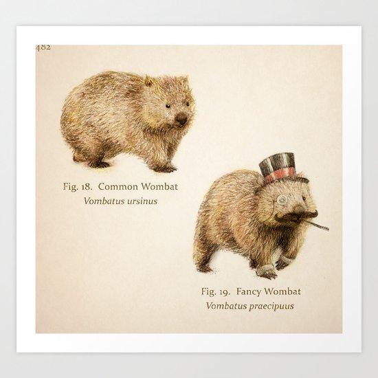 The Fancy Wombat Art Print