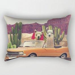 Llamas on the road 2 Rectangular Pillow