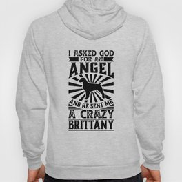Asked God for Angel He sent Me A Crazy brittany Hoody