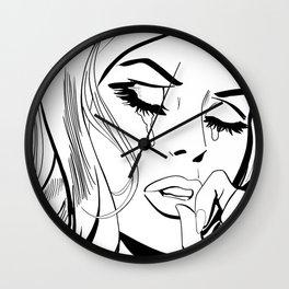 sad girl III Wall Clock