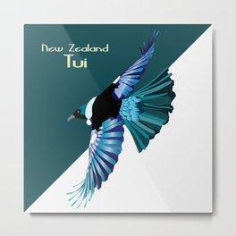 New Zealand Birds - The Tui Metal Print