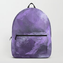 Stormy Abstract Art in Purple and Gray Backpack