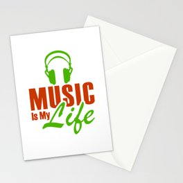 Music Is My Life 1 Stationery Cards