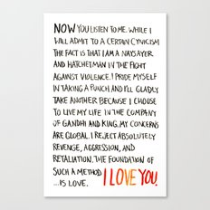 The Foundation of Such a Method Is Love Canvas Print