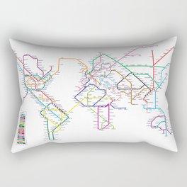 World Metro Subway Map Rectangular Pillow