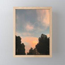 Brushstroke Sky (Toronto sunset sky, Canada) Framed Mini Art Print