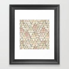 Pattern Houses Framed Art Print