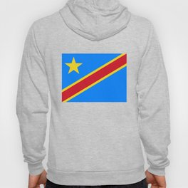 National flag of the Democratic Republic of the Congo, Authentic version (to scale and color) Hoody
