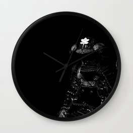 Samurai Armor (B&W Version) Wall Clock