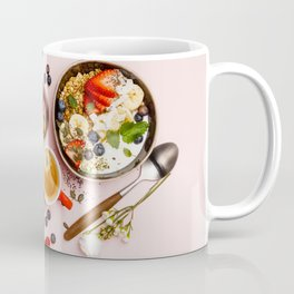 Heart made with Healthy breakfast set Coffee Mug