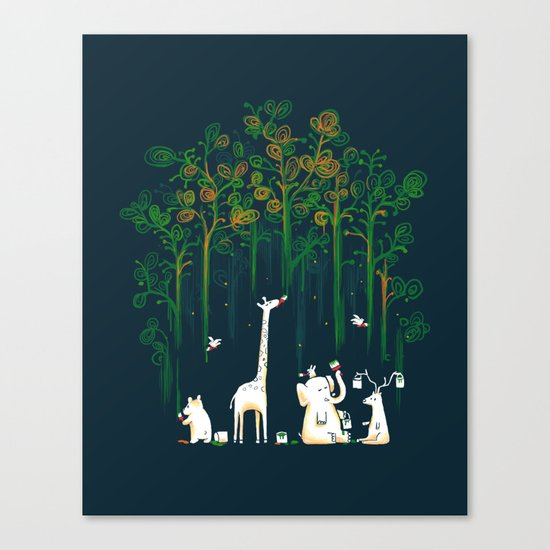 Re-paint the Forest Canvas Print