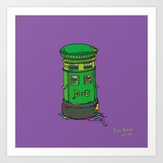 Irish postbox Art Print