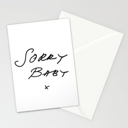Killing Eve - Sorry Baby -quote-Villanelle Stationery Cards